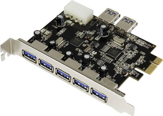 USB 3.0 PCIe kártya, 5+2 port, Renkforce