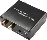 D/A konverter, digitális analóg átalakító 1optikai Toslink, SPDIF bemenetről 2 x RCA, 3.5mm-es jack kimenetre Speaka (SP-4844480) SpeaKa Professional