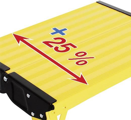 Összecsukható lépcső, sárga, max. 150 kg, Treppy Plus Line