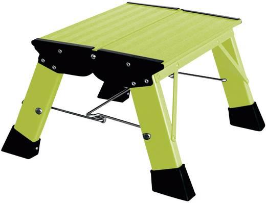 Összecsukható lépcső, zöld, max. 150 kg, Treppy Plus Line