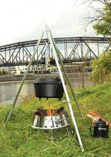 Faszenes háromlábú grill, Petromax D1, ezüst