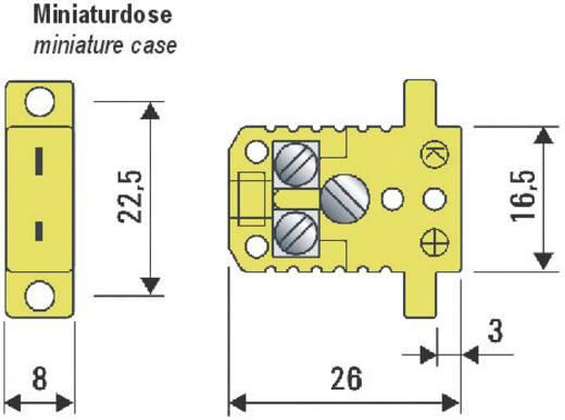 Beépíthető K típusú hőelem csatlakozó aljzat NiCrNi 0.5 mm² B+B Thermo-Technik 0220 0005