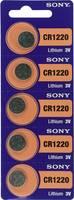 CR1220 lítium gombelem, 3 V, 40 mA, 5 db, Sony BR1220, DL1220, ECR1220, KCR1220, KL1220, KECR1220, LM1220 (111638) Sony