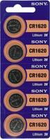 CR1620 lítium gombelem, 3 V, 78 mA, 5 db, Sony BR1620, DL1620, ECR1620, KCR1620, KL1620, KECR1620, LM1620 (213539) Sony