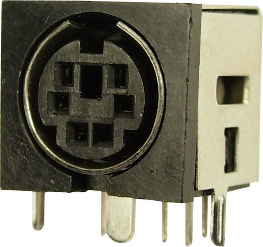 Miniatűr DIN kerek csatlakozó alj, beépíthető, vízszintes, pólusszám: 6 Cliff FC680935