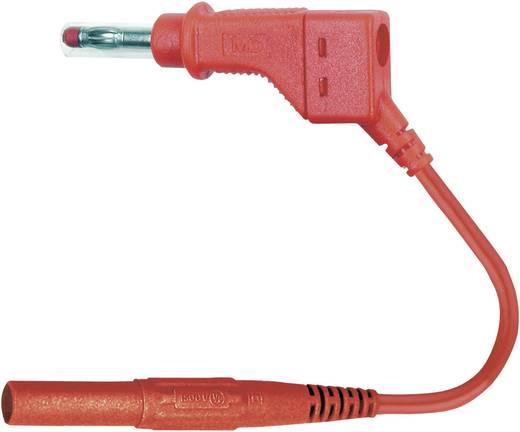 Mérőzsinór, mérővezeték 2db 4mm-es banándugóval 1 mm² PVC, 1m piros MultiContact XZG410-L 100 CM