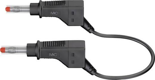 Mérőzsinór, mérővezeték 2db 4mm-es toldható banándugóval 2,5 mm² PVC, 1m fekete MultiContact XZG425-E 100 CM