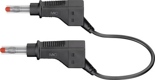 Mérőzsinór, mérővezeték 2db 4mm-es toldható banándugóval 1 mm² PVC, 2m fekete MultiContact XZG410 200 CM