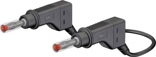 Mérőzsinór, mérővezeték 2db 4mm-es toldható banándugóval 1 mm² PVC, 0.5m fekete MultiContact XZG410 50 CM
