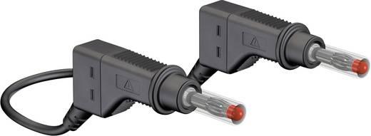 Mérőzsinór, mérővezeték 2db 4mm-es toldható banándugóval 1 mm² PVC, 1m fekete MultiContact XZG410 100 CM
