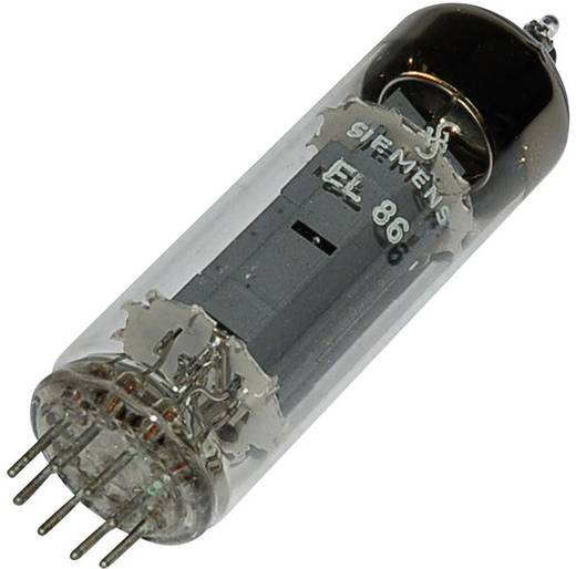 Elektroncső EL 86 = 6 CW 5, pólusszám 9, novál foglalat, Végpentóda