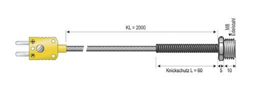 B&B K-típusú hőmérséklet-érzékelő, menetes véggel (M8), -50 - 400 °C (NiCrNi)