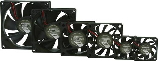 Axiális ventilátor (ipari), 12 V/DC 10.82 m³/h (Sz x Ma x Mé) 40 x 40 x 7 mm QuickCool QC4007B12H