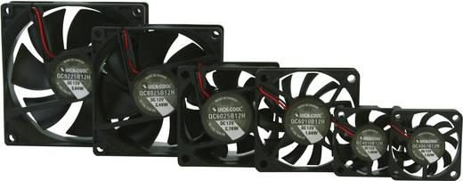 Axiális ventilátor (ipari), 12 V/DC 67.96 m³/h (Sz x Ma x Mé) 80 x 80 x 25 mm QuickCool QC8025B12H