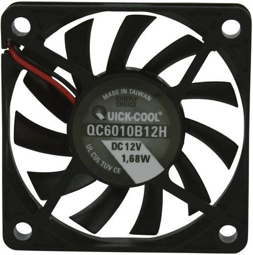 Axiális ventilátor (ipari), 12 V/DC 25.74 m³/h (Sz x Ma x Mé) 60 x 60 x 10 mm QuickCool