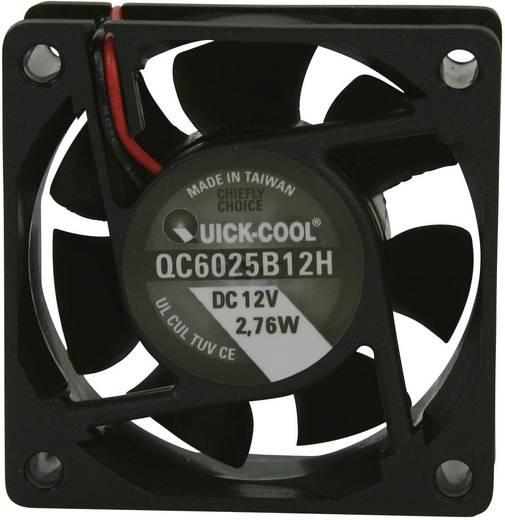 Axiális ventilátor (ipari), 12 V/DC 34,86 m³/h (Sz x Ma x Mé) 60 x 60 x 25 mm QuickCool QC6025B12H