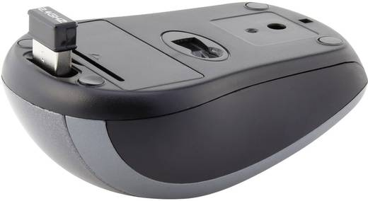 Vezeték nélküli USB-s optikai egér, szürke színű Renkforce SM-305AG