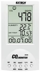 Széndioxid CO2 mérő, levegőminőség mérő, helyiségklíma mérő műszer Extech Desktop CO220 Extech