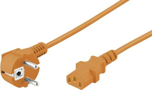 Műszercsatlakozós kábel [ Védőérintkezős dugó - Műszercsatlakozó alj, C13] Narancs 3 m Goobay 95289