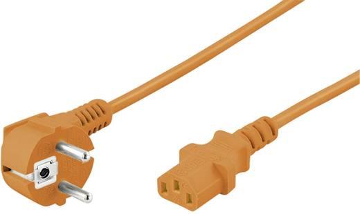 Műszercsatlakozós kábel [ Védőérintkezős dugó - Műszercsatlakozó alj, C13] Narancs 5 m Goobay 95290