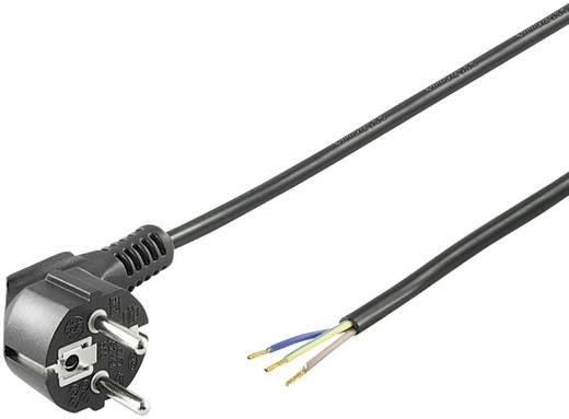 Szerelhető hálózati tápkábel [földelt dugó - szereletlen kábelvég] 3m fekete színű Goobay 96033