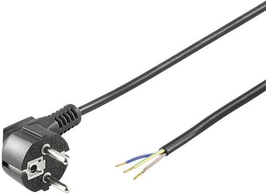 Szerelhető hálózati tápkábel [földelt dugó - szereletlen kábelvég] 5m fekete színű Goobay 96034