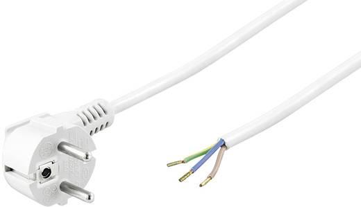 Szerelhető hálózati tápkábel [földelt dugó - szereletlen kábelvég] 3m fehér színű Goobay 93312