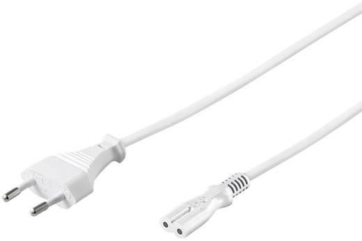 Euro hálózati kábel, borotva kábel [Euro dugó - C7 csatlakozó aljzat] 1.8m fehér színű Goobay 96035