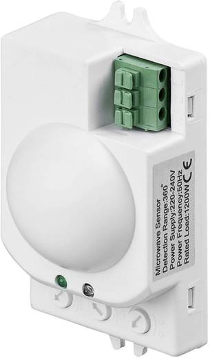 Mozgásjelző mikrohullámú érzékelővel 360 ° Fehér IP20, Goobay 96011