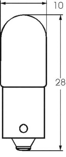 Kis csőlámpa T3 1/4 24 V 0.6 W 0.025 A, foglalat: BA9s, átlátszó, Barthelme