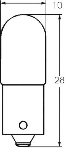 Kis csőlámpa T3 1/4 5 V 0.45 W 0.09 A, foglalat: BA9s, átlátszó, Barthelme