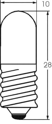 Kis csőlámpa T3 1/4 4 V 0.4 W 100 mA, foglalat: E10, átlátszó, Barthelme
