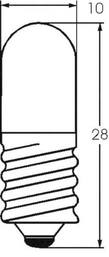 Kis csőlámpa T3 1/4 6,3 A 2 W 320 mA, foglalat: E10, átlátszó, Barthelme