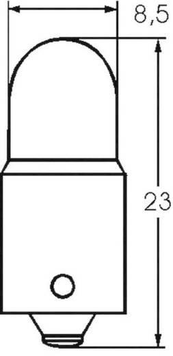 Kis csőlámpa T2 3/4 6 V 1 W 0.18 A, foglalat: BA9s, átlátszó, Barthelme