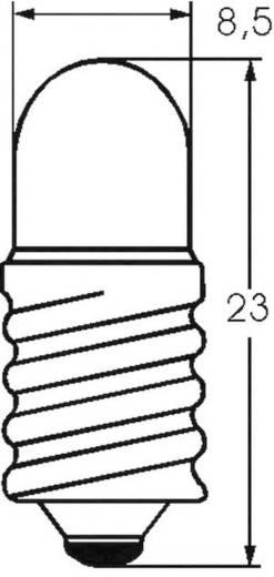 Kis csőlámpa T2 3/4 6 V 3 W 0.5 A, foglalat: E10, átlátszó, Barthelme