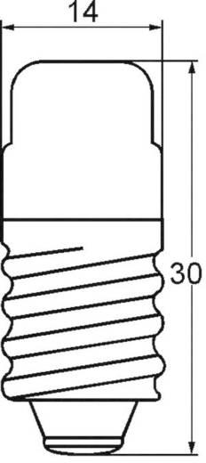 Cső izzó 30 V 3 W 0.1 A, E14, átlátszó, Barthelme 00253003