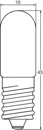 Cső izzó 24 - 30 V 10 W 0.333 A, foglalat: E14, átlátszó, Barthelme