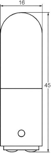 Cső izzó 110 - 140 V 6 - 10 W 0.071 A, foglalat: BA15d, átlátszó, Barthelme