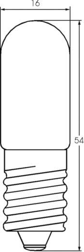 Cső izzó 30 V 5 W 0.166 A, E14, átlátszó, Barthelme 00113005