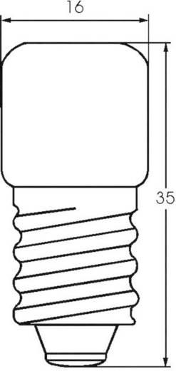 Cső izzó 220 - 260 V 3 - 5 W 0.019 A, foglalat: E14, átlátszó, Barthelme