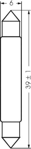 Szoffita lámpa 24 V 3 W 0.125 A, foglalat: S5.5, átlátszó, Barthelme