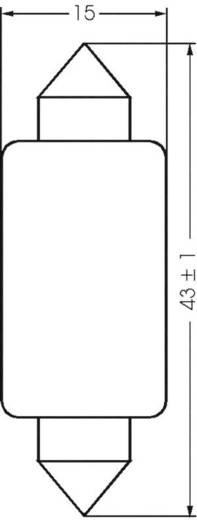 Szoffita lámpa 12 V 3 W 0.25 A, S8, átlátszó, Barthelme 00391203