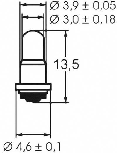 Szubminiatűr izzólámpa 12 V 1.2 W, foglalat: SM4s/7, átlátszó, Barthelme