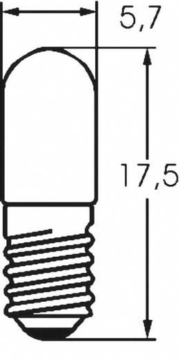 Mikro izzó 6 V 0.6 W, foglalat: E5/8, átlátszó, Barthelme