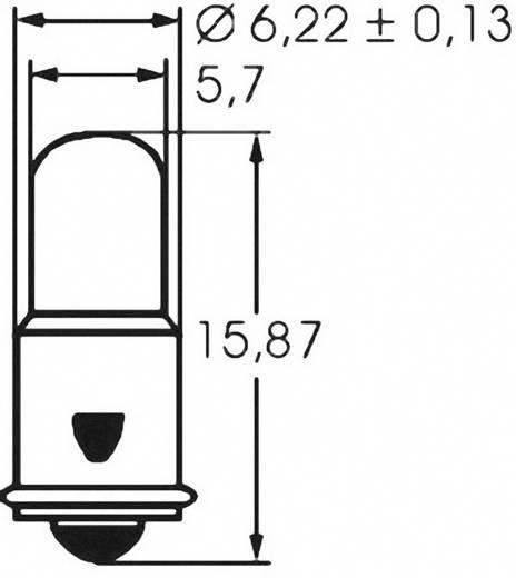 Mikro izzó 12 V 1.2 W, foglalat: MF6s/8, átlátszó, Barthelme
