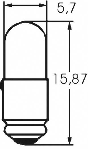 Mikro izzó 24 V 0.6 W, foglalat: MG5.7s/9, átlátszó, Barthelme
