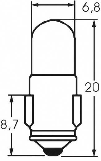 Ellenőrző lámpa 48 V 1.2 W 0.025 A, foglalat: BA7s, átlátszó, Barthelme