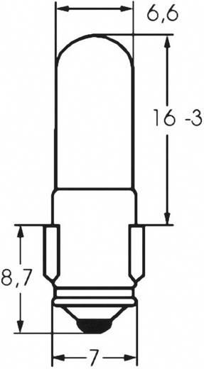 Ellenőrző lámpa 36 V 1.188 W 0.033 A, foglalat: BA7s, átlátszó, Barthelme