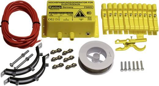 Elektromos védőkerítés készlet nyest és mosómedve ellen, villanypásztor, Kemo FG025