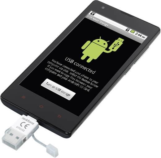 USB-s OTG kártyaolvasó okostelefonhoz/tablethez, USB 2.0, Mikro USB 2.0, Renkforce
